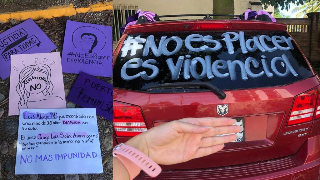 Protesta en Puerto Vallarta por caso de exfuncionario acusado de abuso sexual - Protesta Jalisco Puerto Vallarta exfuncionario abuso sexual