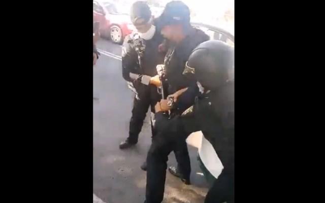 Riña entre policías en la GAM no dejó heridos de bala: SSC - Riña Policías golpes GAM SSC