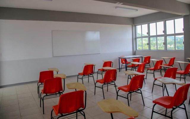 En estados en Semáforo Verde seguirá el programa Aprende en Casa 2: Esteban Moctezuma - Salón de clases vacío en Guerrero. Foto de Héctor Astudillo / Facebook