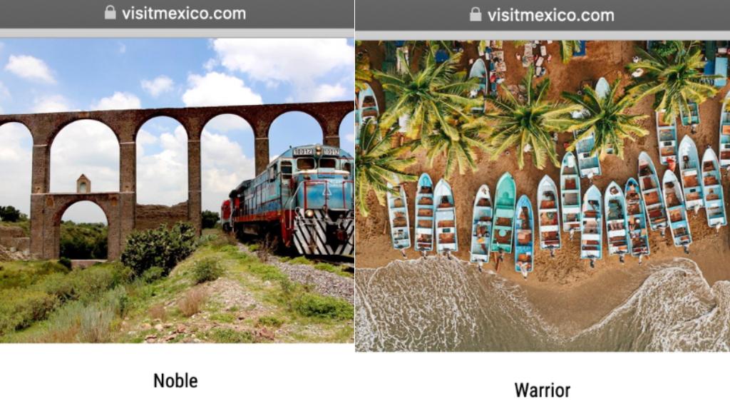Sectur interpone denuncia ante FGR por irregularidades en Visit Mexico - En la página de internet de VisitMéxico se promocionaron destinos turísticos con traducciones que resultaron polémicas. Captura de pantalla