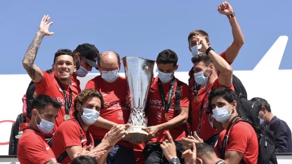 Sevilla celebrará con sencillo acto privado por COVID-19 tras obtener el título de la Europa League - Foto de Twitter Sevilla