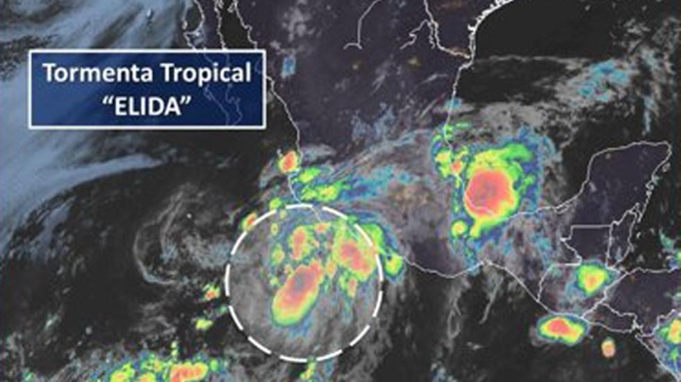 Tormenta tropical 'Elida' ocasionará fuertes lluvias en Guerrero y Jalisco - Tormenta tropical Elida. Foto de @conagua_clima