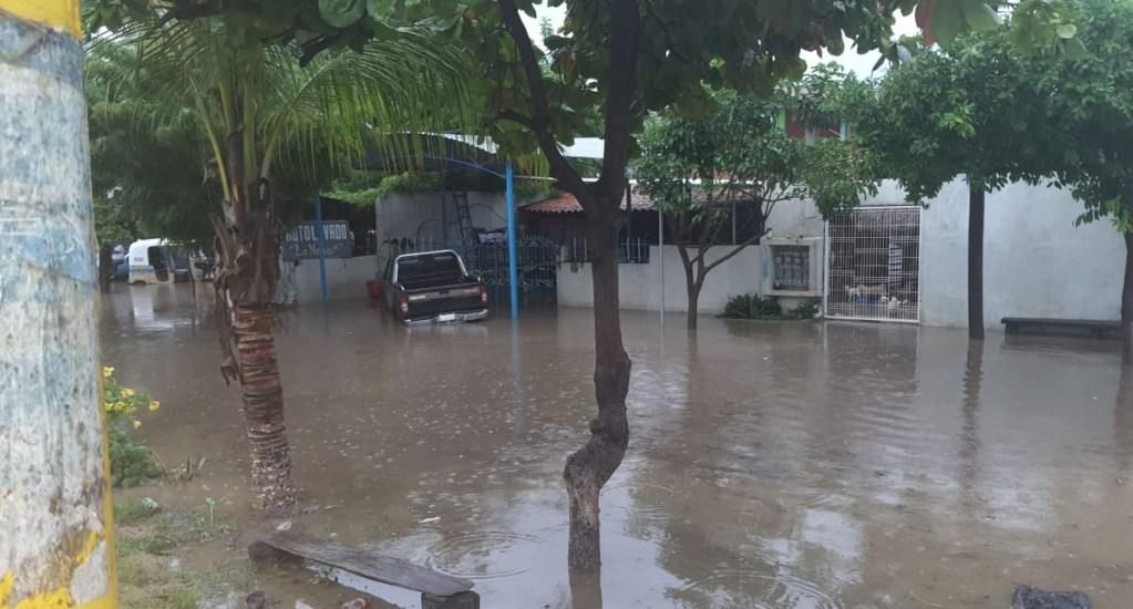 Se desborda río en Tututepec, Oaxaca, por fuertes lluvias - Tututepec Oaxaca daños inundación río lluvias tormentas