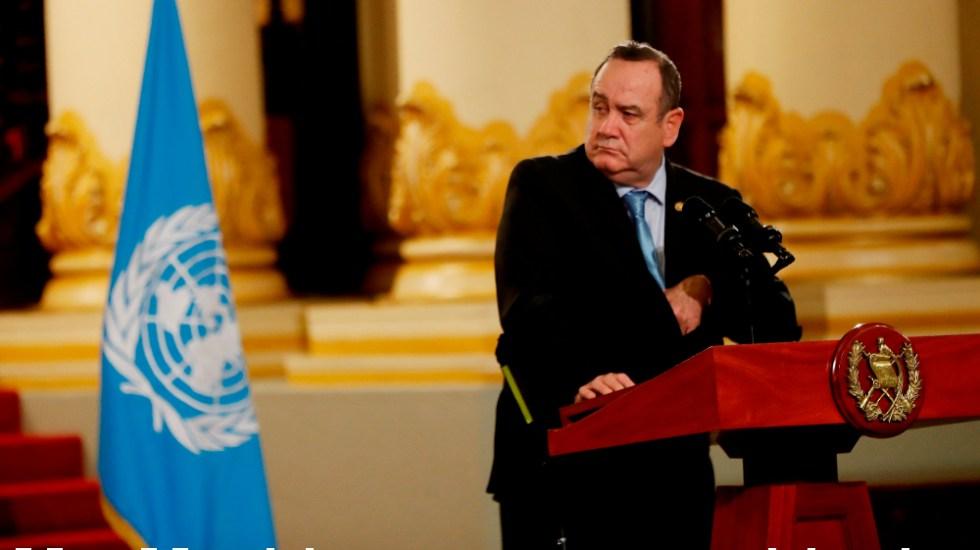 Presidente de Guatemala contrae COVID-19 - Foto de EFE