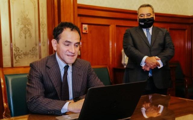 Implementará Hacienda juicio de amparo en línea tras convenio con la SCJN - Arturo Herrera durante firma del convenio de colaboración entre la SHCN, la SCJN y el CJF. Foto de @Hacienda_Mexico