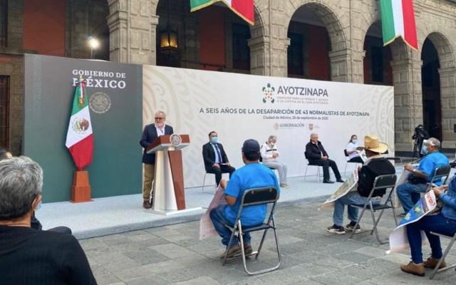 Alejandro Encinas aseguró que no se creará una nueva verdad histórica en el Caso Ayotzinapa - Foto de Twitter Alejandro Encinas