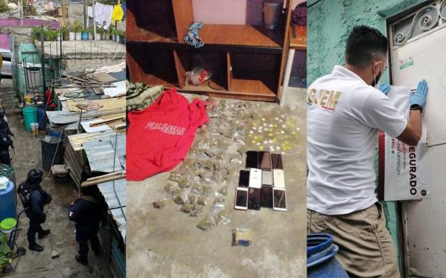 Aseguran droga en casa de presunto asesino de pasajero durante asalto a combi - Cateo en casa de presunto asesino de pasajero del transporte público en Naucalpan. Foto de FGJEM
