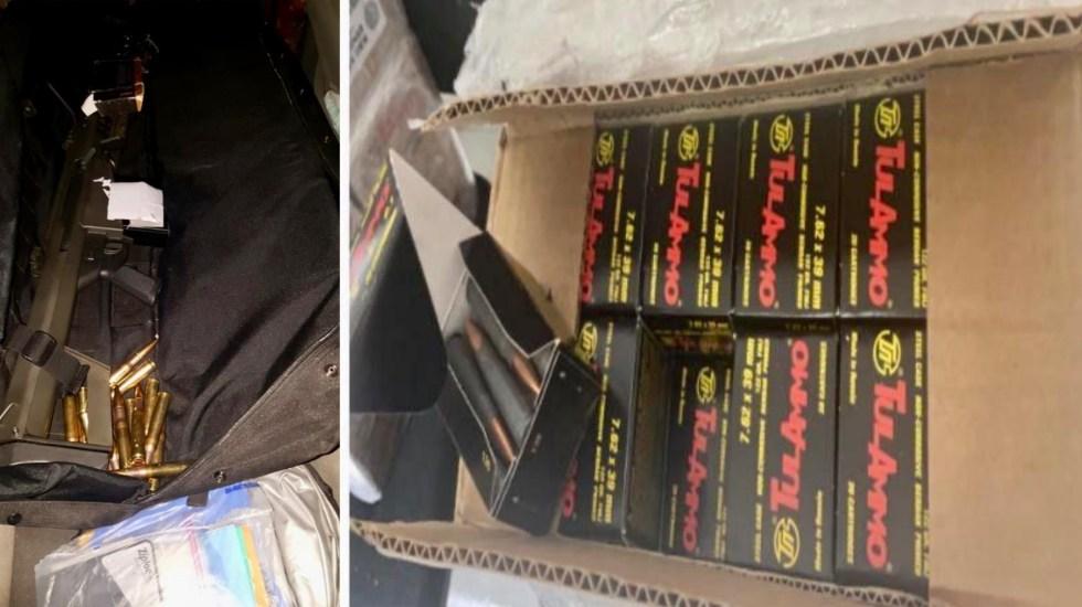 Decomisan en aduana de Nogales, Sonora, un rifle Barrett y 22 mil balas - Decomiso armas balas México 2