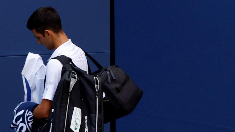 """""""Me siento triste y vacío"""", expresa Djokovic tras descalificación del Abierto de Estados Unidos - Djokovic Abierto Estados Unidos pelotazo juez de línea 2"""