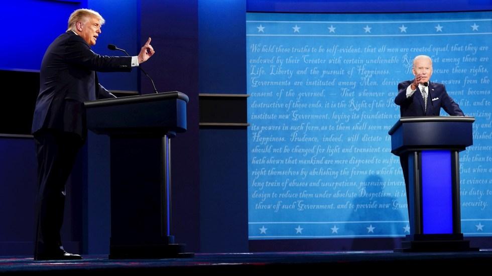 Primer debate en EE.UU.: Trump insiste en posibilidad de fraude electoral; Biden revira que confiará y aceptará resultado de elecciones - Estados Unidos debate presidencial Donald Trump 3