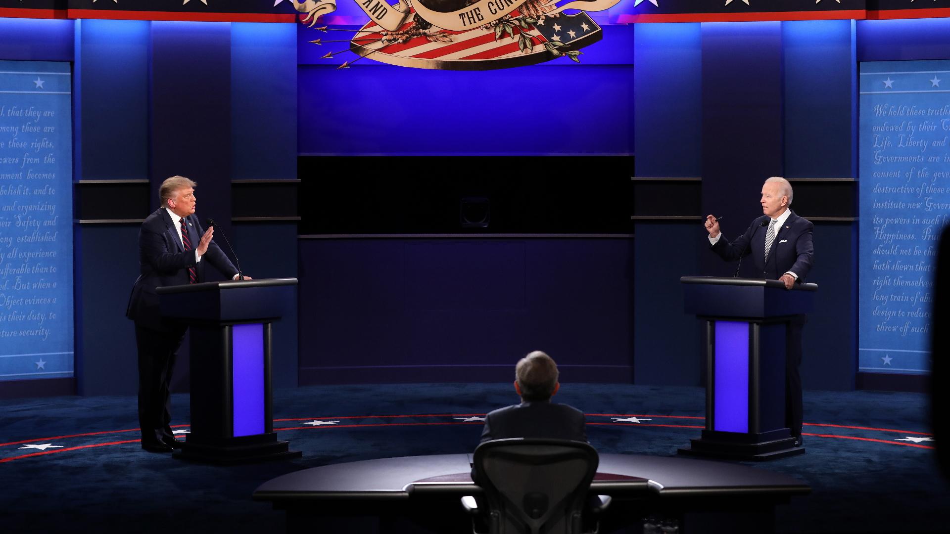 Estados Unidos debate presidencial Donald Trump Joe Biden 3