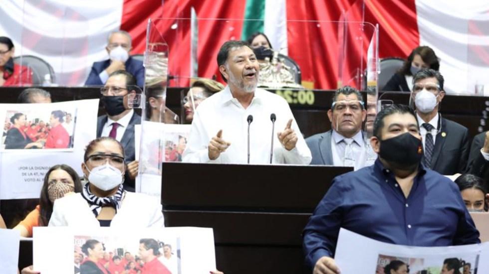 Ganamos, aunque hayamos perdido la votación: Fernández Noroña tras elección de la Mesa Directiva en San Lázaro - Foto de Partido del Trabajo