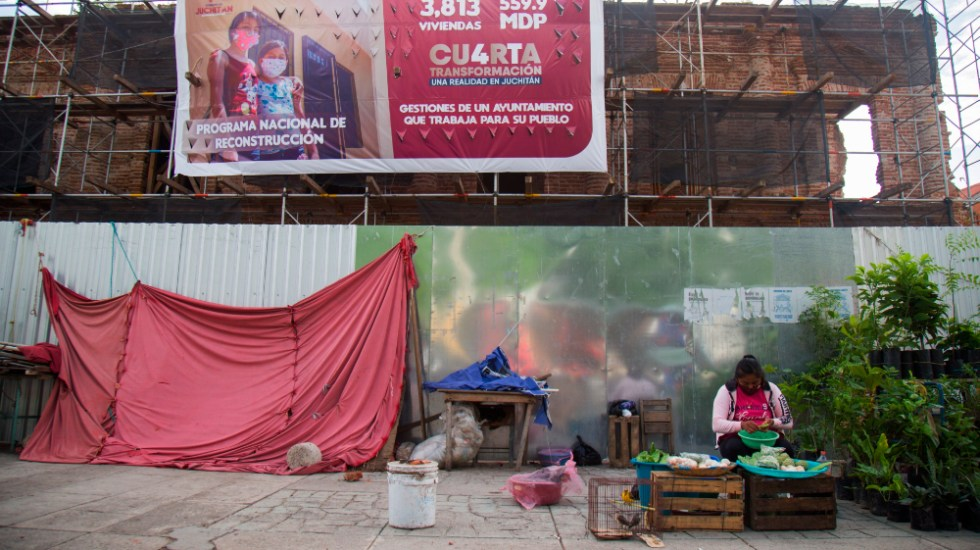 Familias siguen sin casa en Oaxaca cuando se cumplen tres años del terremoto - Foto de EFE