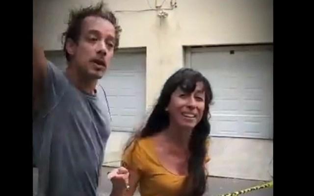 Abandona México mujer argentina que insultó a vecina de la Cuauhtémoc; Migración le impone restricción de reingreso - 'Lady Argentina'. Captura de pantalla