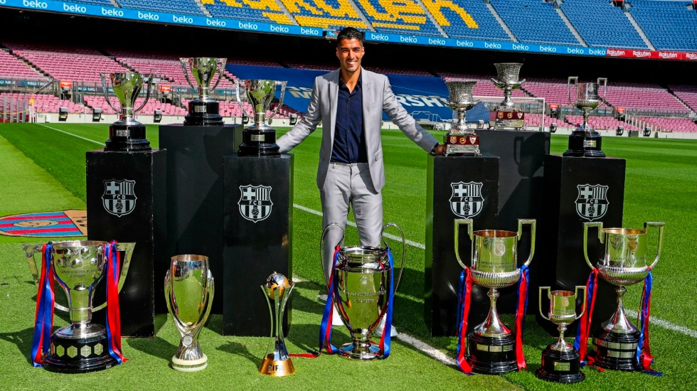 """#Video """"Siempre seré un culé más"""", Luis Suárez se despide de Barcelona con lágrimas en los ojos - El delantero uruguayo Luis Suárez. Foto @FCBarcelona_es"""