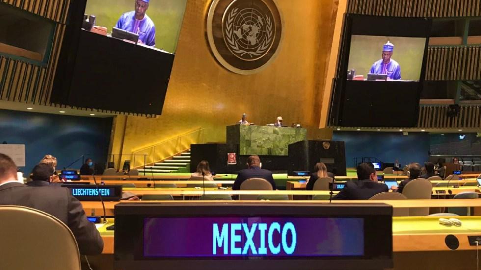 Resolución impulsada por México en materia de COVID-19, entre principales logros de 74 Asamblea General de la ONU - Foto de @MexOnu