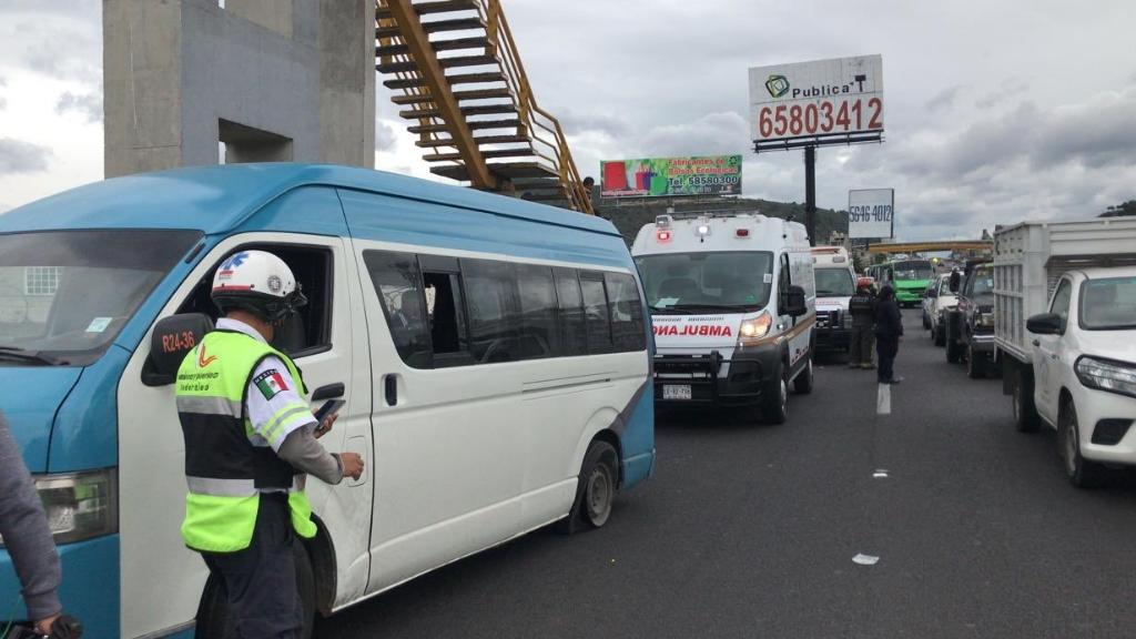 México Puebla accidente transporte público 2