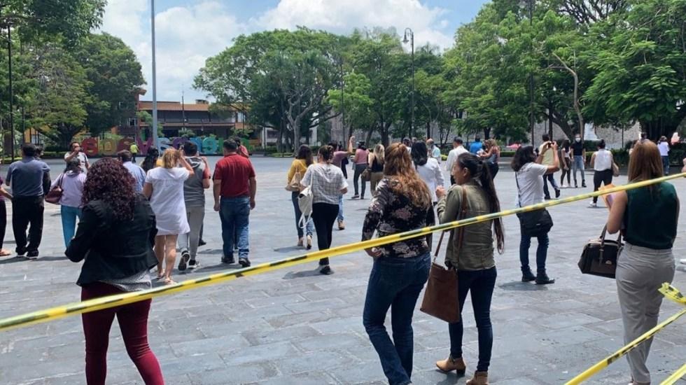 Sismo magnitud 3.5 sacude Cuernavaca, Morelos; desalojan edificios de Gobierno - Foto de Mesa Digital Morelos