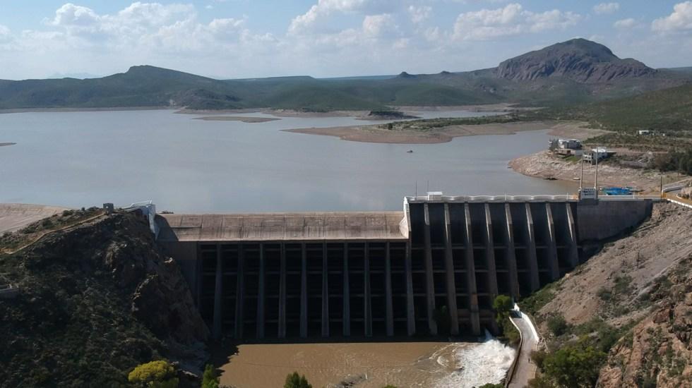 No se dejará de atender a población de Chihuahua tras conflicto por agua, asegura AMLO - Presa Francisco I. Madero en Chihuahua. Foto de EFE