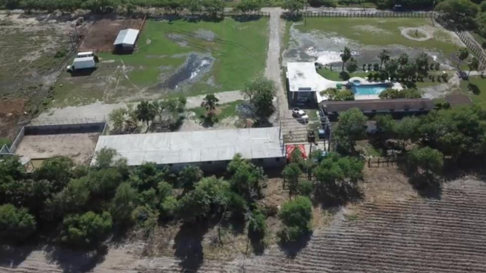 Aseguran 200 kilos de crystal y un rancho en Tamaulipas - Foto de captura de pantalla