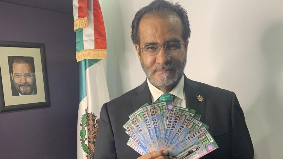 René Bejarano pide a ciudadanos participar en la rifa del Avión Presidencial - René Bejarano Cachitos Avión presidencial