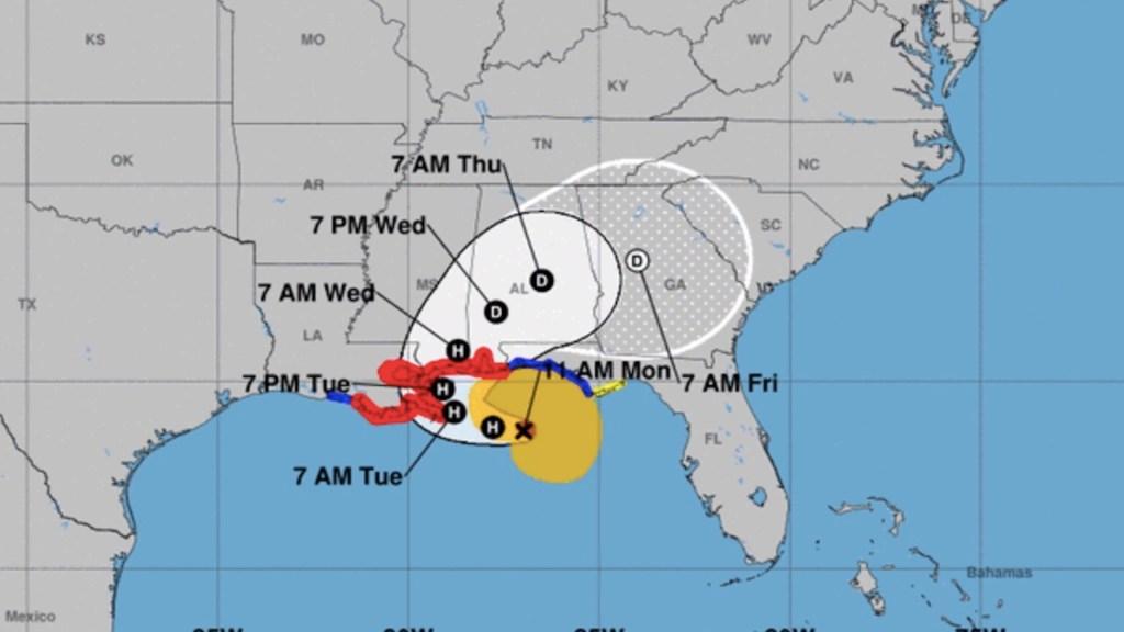 Sally se intensifica a huracán categoría 1; alerta en Luisiana por posible impacto - Foto de NHC