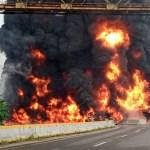 Cuatro muertos deja explosión de camión cisterna en Paraíso, Tabasco - Foto de @adan_augusto