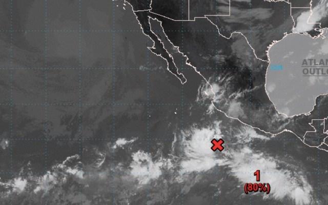 Se forma depresión tropical Dieciocho-E frente a las costas de Michoacán - Foto de NHC