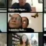 #Video Diputada por Morena coloca foto para fingir que está en sesión del Congreso CDMX