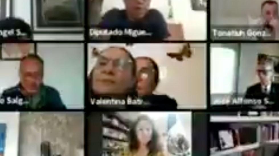 #Video Diputada por Morena coloca foto para fingir que está en sesión del Congreso CDMX - Foto de captura de pantalla
