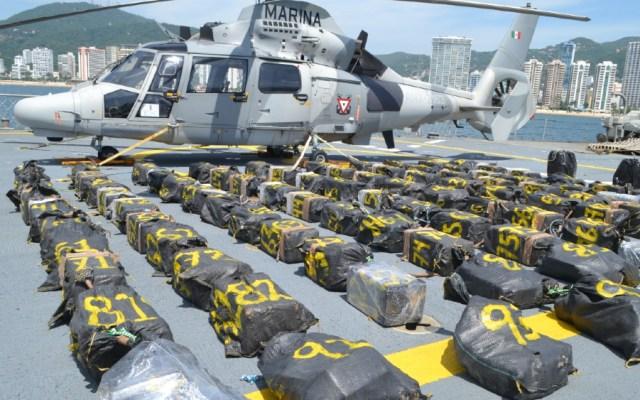 Aseguran dos toneladas de cocaína cerca de las costas de Acapulco, Guerrero - Foto de Semar