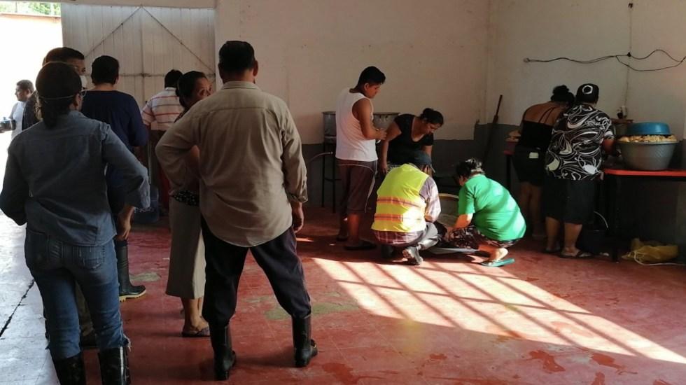 Detectan primer caso de COVID-19 en un albergue temporal de Tabasco - Foto de Protección Civil Tabasco