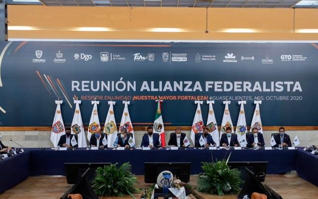 Alianza Federalista recurrirá a acciones legales contra recortes presupuestales del gobierno federal - Reunión de la Alianza Federalista. Foto Twitter @diegosinhue