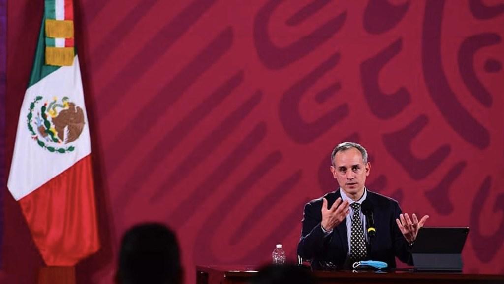Secretaría de Salud alista nuevo formato de conferencias sobre COVID-19 - Hugo López-Gatell en conferencia vespertina sobre COVID-19. Foto de EFE / Archivo