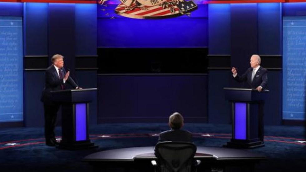 Apagarán micrófonos durante segundo debate entre Trump y Biden para evitar interrupciones - Foto EFE