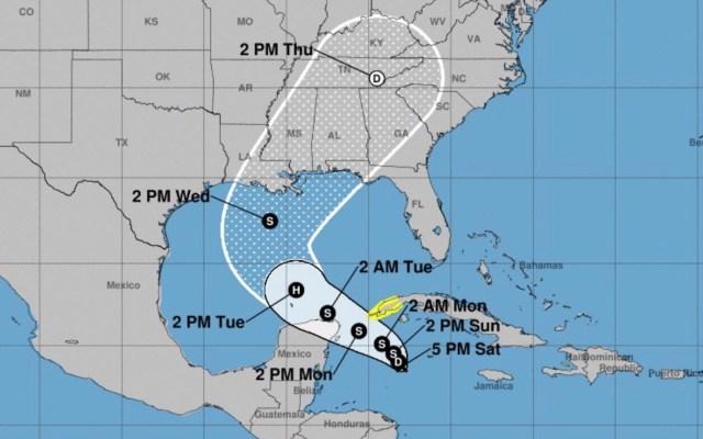 Se forma depresión tropical Veintiocho en el mar Caribe; provoca lluvias en Yucatán, Campeche y Quintana Roo - Foto de NHC