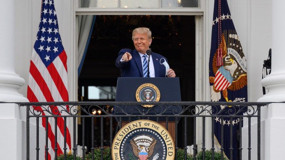 Con el 81 por ciento de los votos contabilizados, Donald Trump mantiene ventaja en Texas - Donald Trump en primer evento público tras dar positivo por COVID-19. Foto de EFE