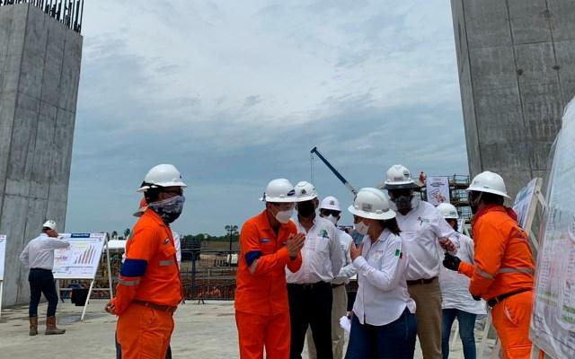 Solicita FMI a México posponer proyecto de refinería de Dos Bocas hasta que sea rentable - La construcción de la refinería de Dos Bocas. Foto Twitter @rocionahle