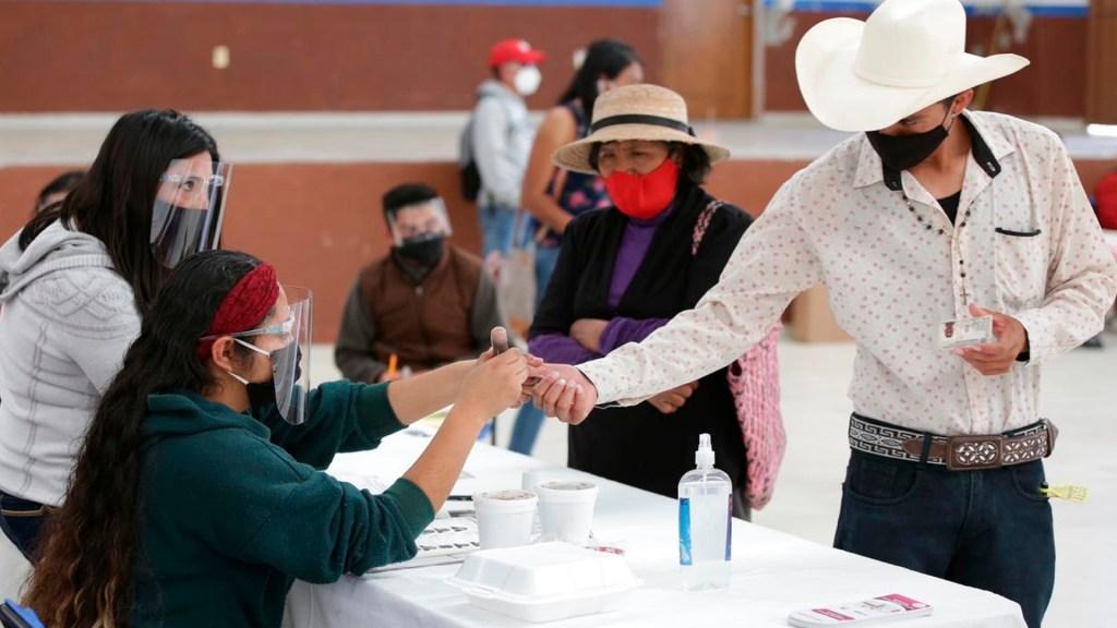 Citlalli Hernández llama al voto masivo a favor de Morena en Hidalgo y Coahuila; consejero del INE la acusa de violar ley electoral - Elecciones en Coahuila e Hidalgo. Foto de @adriafavela
