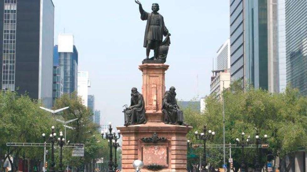 Estatua de mujer olmeca sustituirá a Cristóbal Colón en Reforma, CDMX - Estatua de Colón, CDMX.
