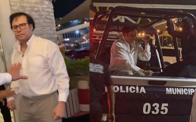 #Video Protagoniza exdelegado de SRE en Sonora nuevo escándalo en presunto estado de ebriedad - Escándalo y detención del exdelegado de SRE en Sonora. Captura de pantalla / @jose_cota1