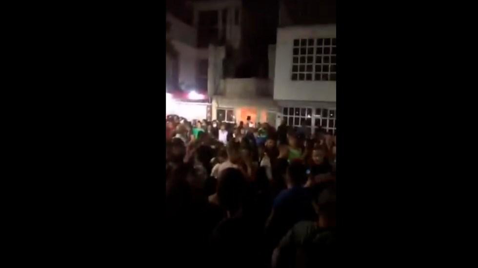 #Video Realizan fiesta en San Juan de Aragón pese a ser colonia prioritaria por COVID-19; acusan acuerdo con autoridades - Foto Captura de pantalla