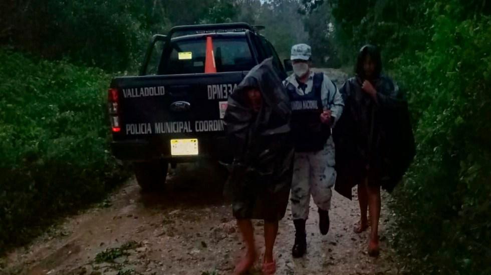 Aplica Guardia Nacional plan para auxiliar a municipios de Valladolid y Progreso afectados por lluvias - La Guardia Nacional en labores de ayuda en Yucatán. Foto Twitter @GN_MEXICO_