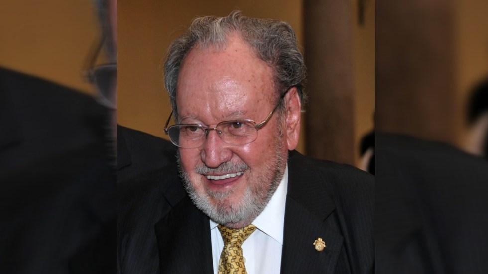 UNAM resalta legado que dejó Guillermo Soberón en educación superior y Salud en México - Guillermo Soberón Acevedo. Foto de UNAM