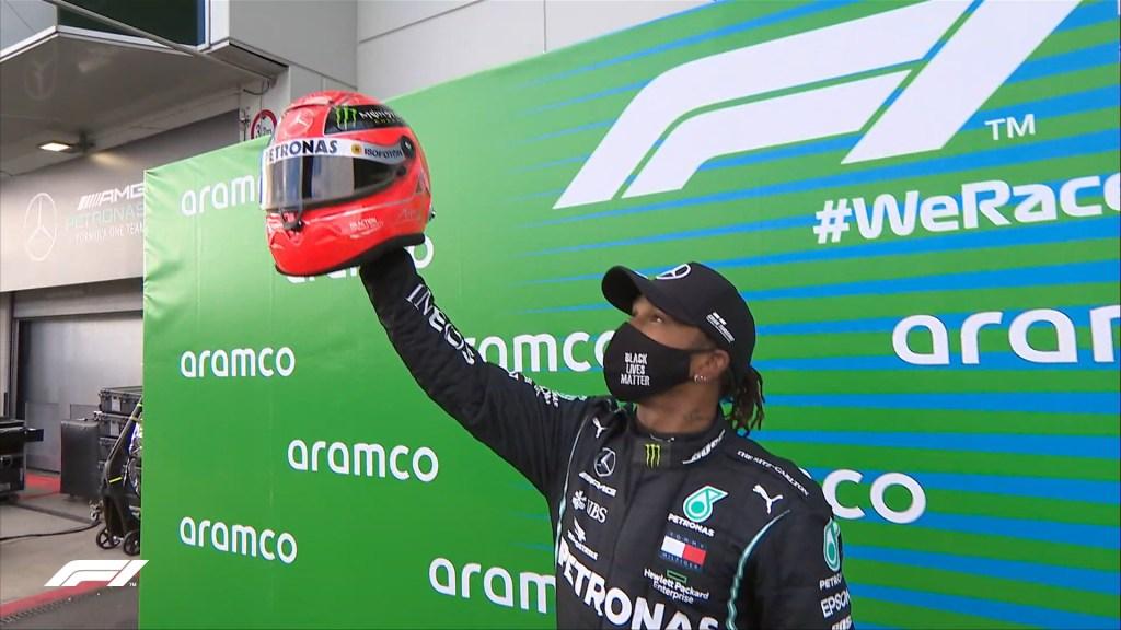 Hamilton gana GP de Eifel; 'Checo' Pérez queda cuarto - Hamilton en GP de Eifel. Foto de @F1