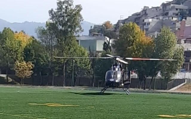 Balean a policía de la SSC en la Gustavo A. Madero - Helicóptero cóndor de la SSC que trasladó a hospital a policía baleado en la GAM. Foto de @JerrxG13
