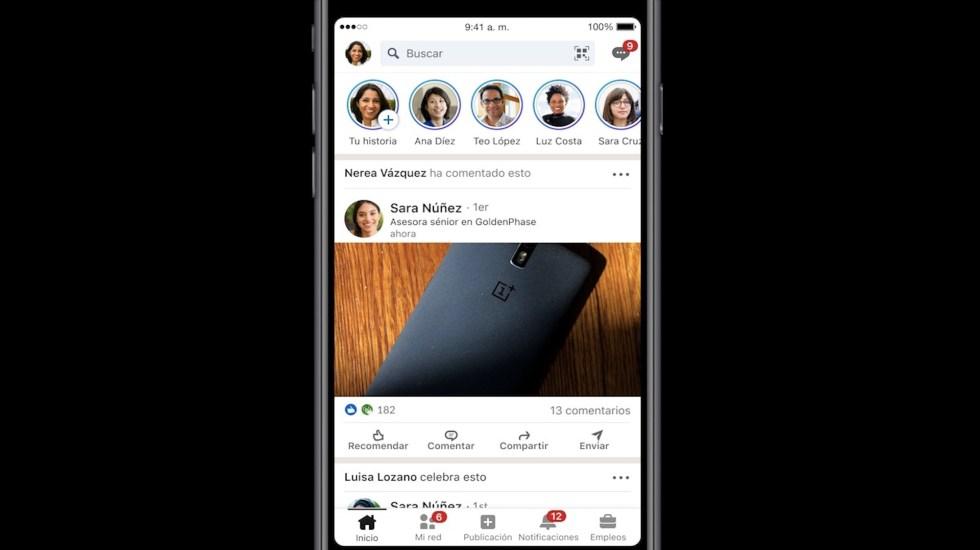 LinkedIn ahora permite compartir historias - Foto de LinkedIn
