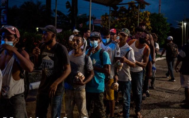 """López Obrador ve """"extraño"""" formación de nueva caravana migrante; """"tiene que ver con elección en EE.UU."""", apunta - Foto de EFE"""