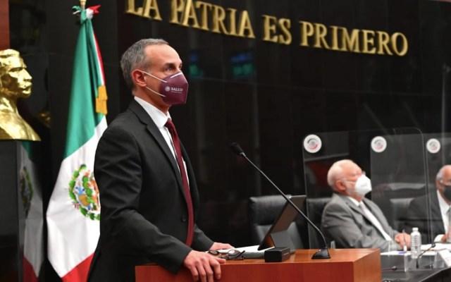 México cumplió objetivos de estrategia anti COVID-19, dice López-Gatell en una sesión que fue suspendida por irrupción de la oposición - Foto de Salud México