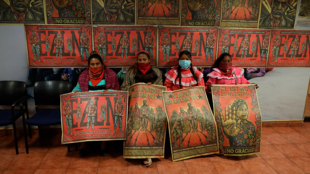 Cumple 12 días toma del Instituto Nacional de los Pueblos Indígenas por parte de otomíes - Foto de EFE